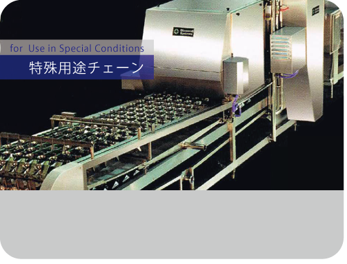 We also develop and supply chains for use in special conditions, such as for conveyors, to meet customer's needs. We have had broad achievements mainly in the overseas market.